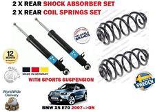 Für BMW X5 E70 Sdrive Xd 2007- > 2X Hinterer Stoßdämpfer + 2x Fahrwerksfedern