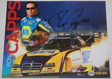 2012 Ron Capps signed Napa Dodge Mopar Charger Funny Car NHRA postcard