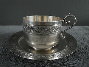 GALLIA CHRISTOFLE SILVER PLATED COFFEE CUP