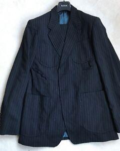 Paul Smith Hauptlinie Blau Streifen 2 Knöpfe Einreihig Mode Blazer