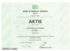 Schweiz:  Bank in Reinach  Aargau  1977