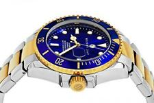 Henry Jay Mens 23K Gold Plated Two Tone Stainless Steel, New