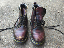 Dr. Martens  Cherry Red  Leather Boots Women's UK 5/US 7 Distress
