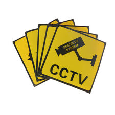 3pcs/set CCTV Security System Camera Sign Waterproof Warning Stickers @M