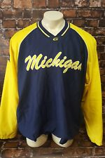 Ncaa University of Michigan Football Pullover Men Size 2Xl Long Sleeve Warm Up
