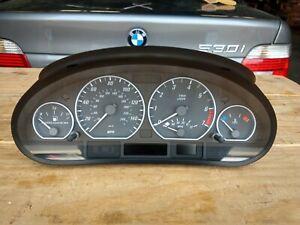 107K MILES BMW INSTRUMENT CLUSTER SPEEDOMETER MPH E46 330i 330ci 6985688 01-06