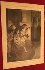 Harper's Weekly page 4, Jan 1 1881 Christmas Morning Looking For Santa picture
