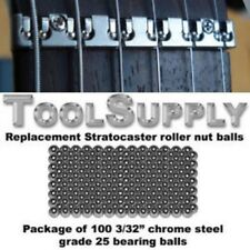 "Replacement  Stratocaster roller nut balls -100 3/32"" Chrome steel bearing balls"
