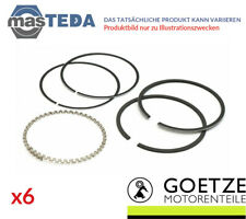 6x Goetze ENGINE PISTON RINGS SET 08-705100-00 I STD NEW OE QUALITY
