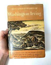 The Best Known Works of Washington Irving 1942 Hardback Vintage Anthology Lit HB