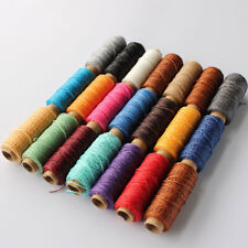 1mm 150D DIY Flat Hand Stitching Leather Waxed Thread Sewing Line Cord