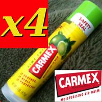 4 X CARMEX MOISTURISING LIP BALM, CLASSIC STICKS, LIME TWIST   .