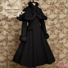 Women's Cloak Cape Coat Jacket Gothic Punk Long Lolita Warm Cosplay Coat S-2XL