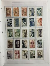 France Lot Of 100 Postage Stamps Mounted All Large All Different