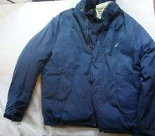 NEW Nautica Womens Regular Size L Large Solid Blue Puffy Coat Jacket Outdoors