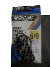 OWNER RINGED SUPER MUTU CIRCLE HOOK - SIZE 6/0 - (7 HOOKS)