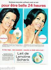 PUBLICITE ADVERTISING 115  1964  lait de lanoline SCHERCK
