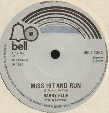 "Barry Blue(7"" Vinyl)Miss Hit And Run / Heads I Win, Tails You Lose-Bell-VG/VG"