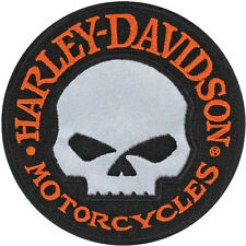 HARLEY DAVIDSON Hubcap Reflective Willie G Skull 4 INCH PATCH