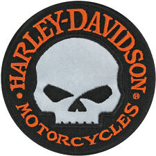 HARLEY DAVIDSON Hubcap Reflective Willie G Skull 4 INCH PATCH