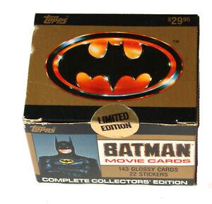 BATMAN Topps Complete Movie Trading Card Series * 1989 Box Set