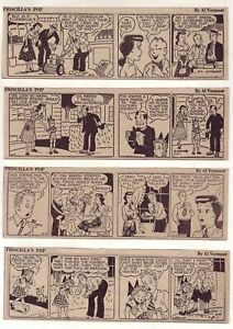 Priscilla's Pop by Al Vermeer - 19 daily comic strips from 1951