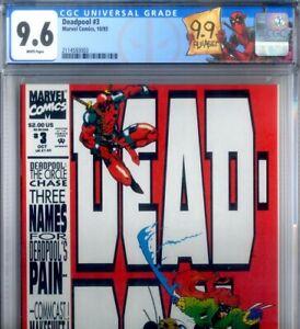 PRIMO:  DEADPOOL #3 Circle Chase Ltd NM+ 9.6 CGC + DP label 1993 Marvel comics