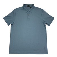 Theory Men's Current Pique Short Sleeve Stinson Polo Shirt Blue Size Large New