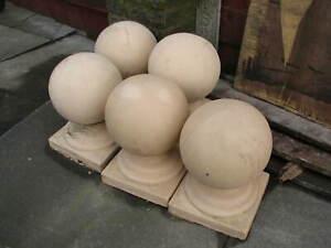 garden  gate post ball top on plinth
