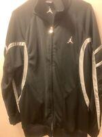 MEN'S NIKE Basketball Air Jordan Jumpman Full Zip Track Jacket Size L Black