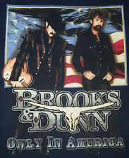 Brooks Dunn 2001 Large T Shirt Neon Circus Wild West Show Only In America Blue