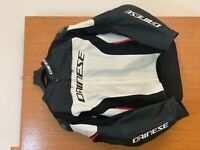 Dainese Racing 3 Perforated Leather Jacket White/Black/Red Size 62