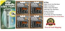 21 Gillette Contour Plus Blade Cartridge Refills Fit Atra Schick Slim Twin Razor
