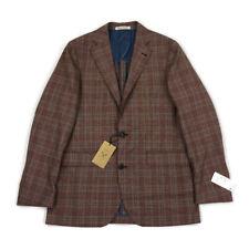 Strong Suit Sport Coat Blazer Slim Fit Wool Red Plaid 40L