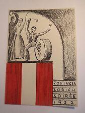 Zürich - Zofingia - Soirée 1932 / Studentika