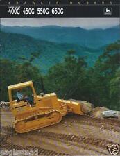 Equipment Brochure - John Deere - 400G 650G et al Crawler Dozer - c1991 (E2369)