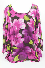 M by Marc Bouwer Floral Print Blouse with Tank PICK SIZE & COLOR NW B2