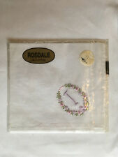 Monogrammed Handkerchief with purple letter I in floral wreath. new in packet