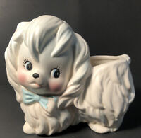 Vintage Lefton Mr Toodles Maltese Dog 2631 Planter