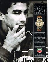 PUBLICITE ADVERTISING 074  1990  TAG HEUER  montre crono étanche