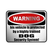 Auto Aufkleber Sticker Warning DOG Hunde Einbruch Warnaufkleber Siviwonder
