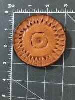Vintage Boy Scouts of America BSA 1959 Leather Handmade Merit Badge Craft Disc