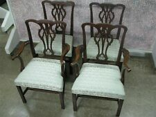 Set of 4 Kittinger Williamsburg Reproduction Chippendale Mahogany Dining Chairs