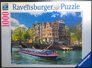 1000 Piece Jigsaw Puzzle- Ravensburger Puzzle- Canal Tour In Amsterdam