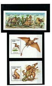 1995 Sierra Leone Prehistoric Animals Mini Sheet Stamps MNH