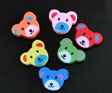 10pcs assorted love rabbit wood beads approx 20 mm ideal for children jewels