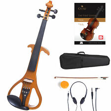 Cecilio Size 4/4 Electric Violin Ebony Fitted ~Yellow Style4