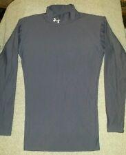Under Armour Sz small grey mock neck long sleeve shirt