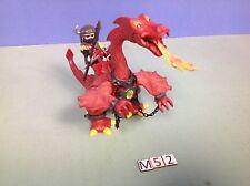 (M52) playmobil Dragon rouge et chevalier ref 3327