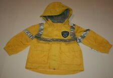 New Carter's Boys 2T Raincoat Jacket Yellow Police Themed Hooded Coat